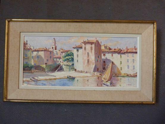 Картина 'Мартиг'. J.Basso, XX в.