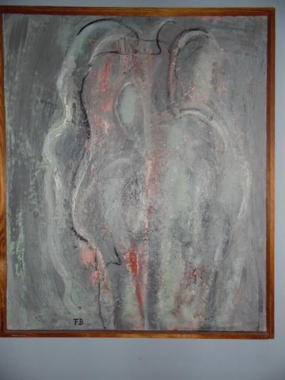 Картина 'Обнаженный серый', 1968 г.