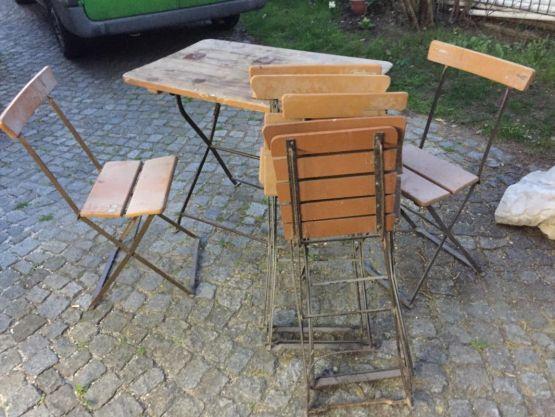 Садовые сто и стулья