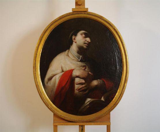 'Карл Борромео за молитвой'. Г.Каньяччи, XVII в.