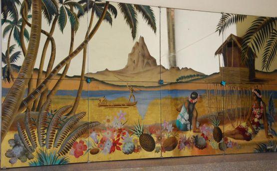 Декоративная стеклянная панель, 1940-ые гг.