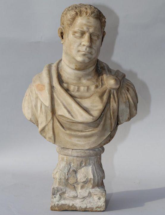 Мраморный бюст римского императора. Италия, XVIII
