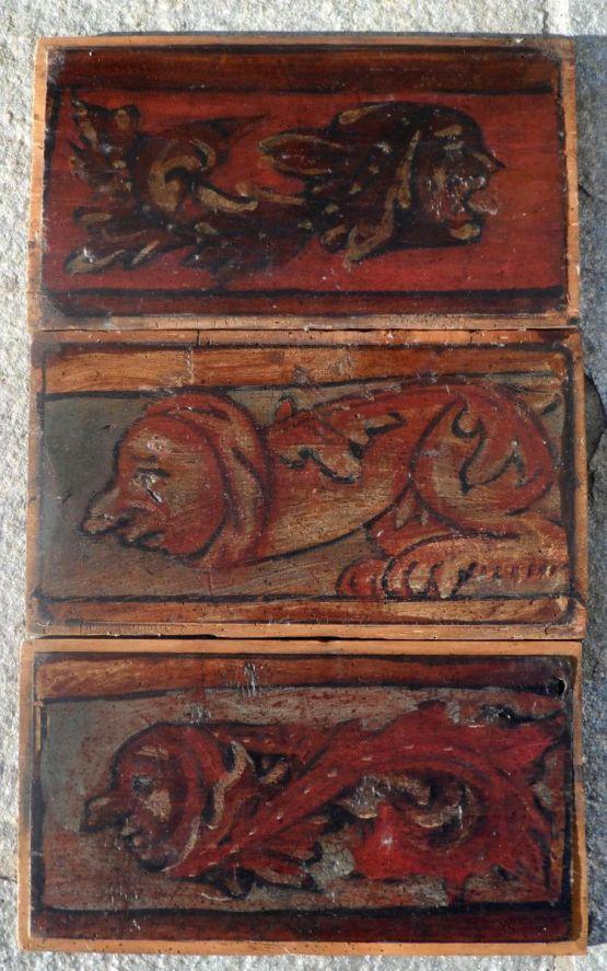 Три потолочные панели. Италия, XVI в.