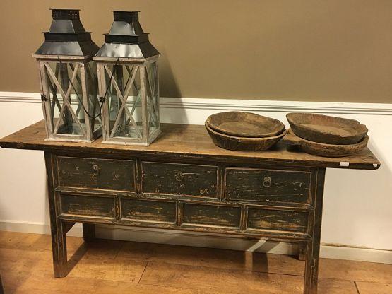 Старинный стол-комод из сосны