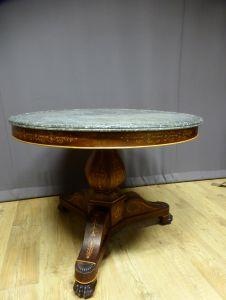 Круглый стол с маркетри в стиле Карла X, XIX в.