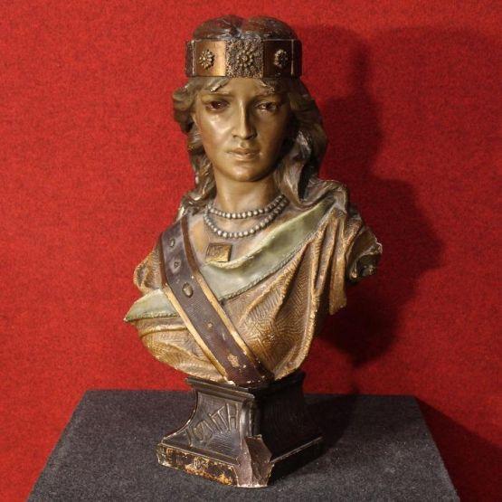 Скульптурный женский бюст. Франция, XX в.