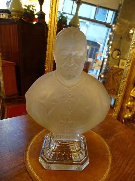 Хрустальный бюст римского папы Пия IX, XX век