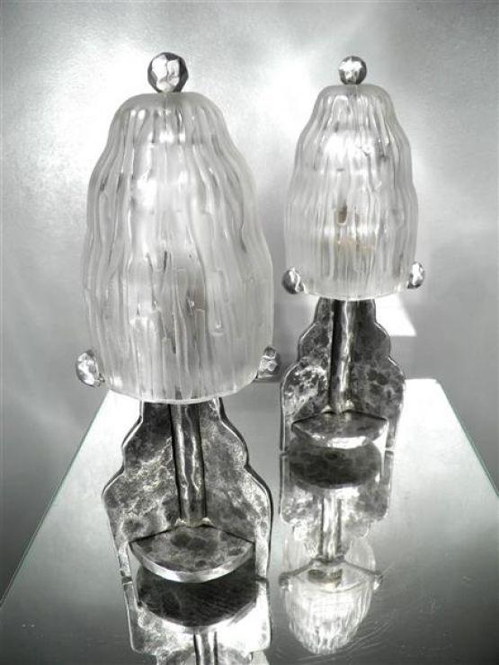 Два ночника 'Каскад'. Sabino, 1920-1930 гг.