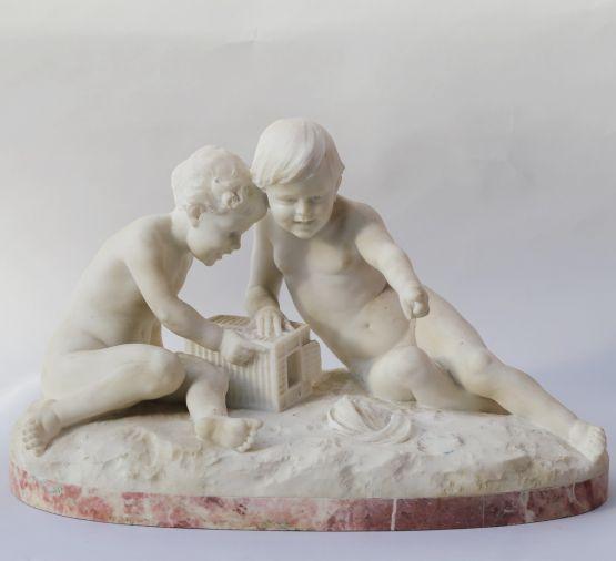 Скульптура 'Играющие дети'. Италия, XIX в.