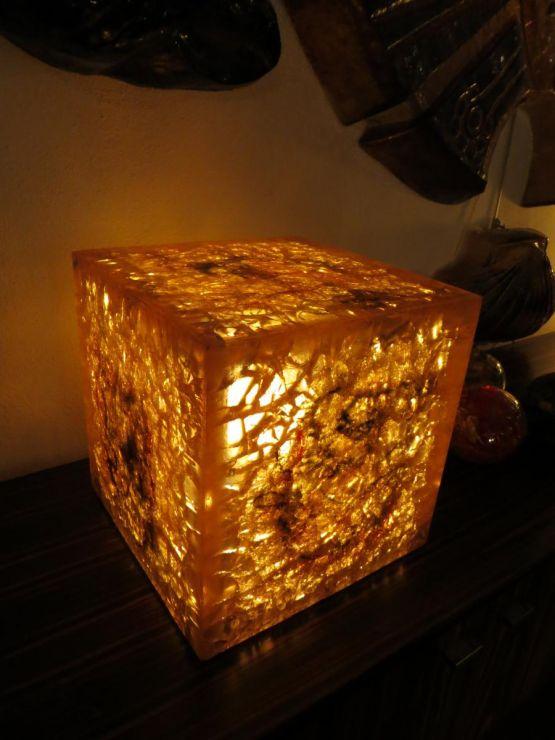 Фрактальный куб-лампа из резины, ХХ в.