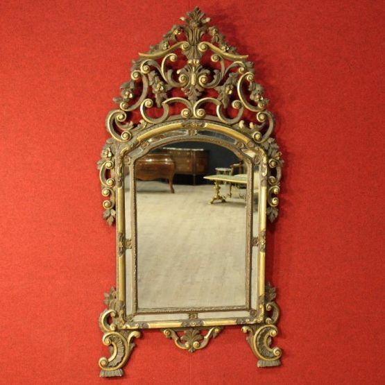 Зеркало в позолоченной раме. Италия, XX в.