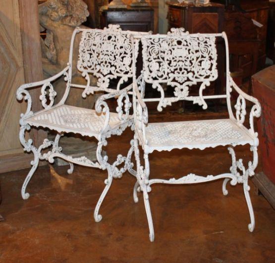 Садовые стулья из литого алюминия