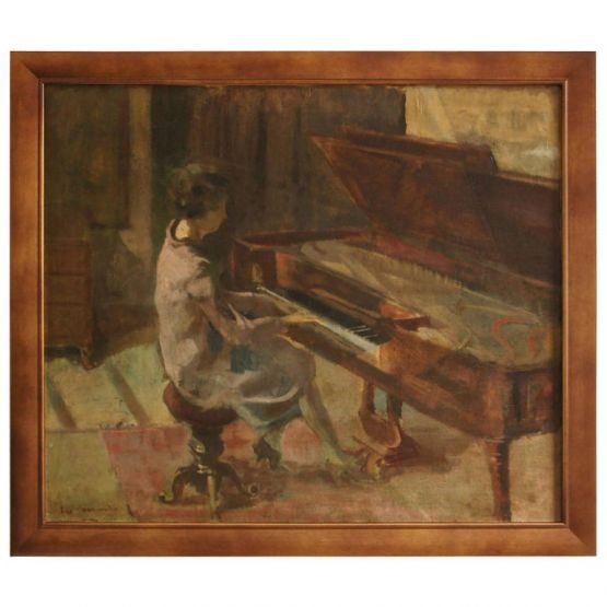 Картина 'Женщина за пианино', 1920 г.