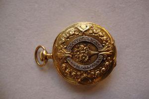 Золотые дамские карманные часы. Longines, XX в.