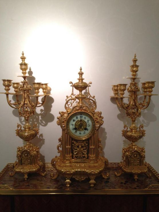 Набор с часами в стиле Неоренессанс, поздний XIX в