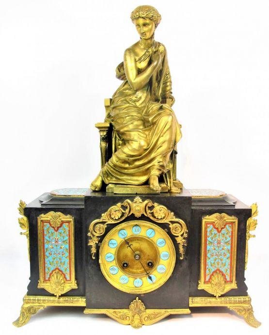 Часы в неогреческом стиле. Франция, XIX в.