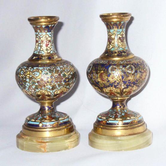 Две бронзовые вазы, эпоха Наполеона III, XIX в.