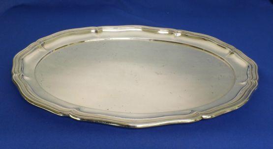 Сервировочное блюдо из серебра, 40 см