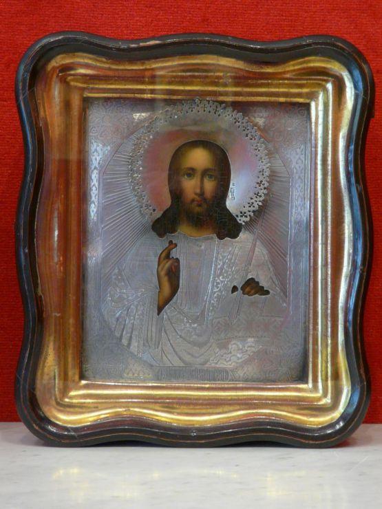 Икона Христоса Пантократора. Россия, XIX в.