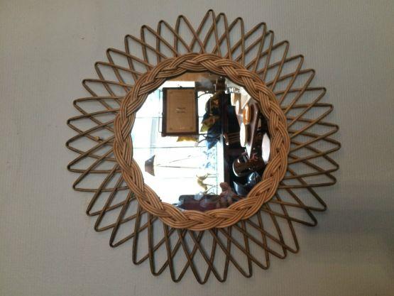 Винтажное круглое зеркало