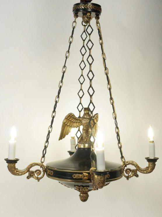 Люстра с орлом в стиле ампир, XIX в.