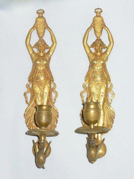 Два канделябра в стиле ампир,XIX в.