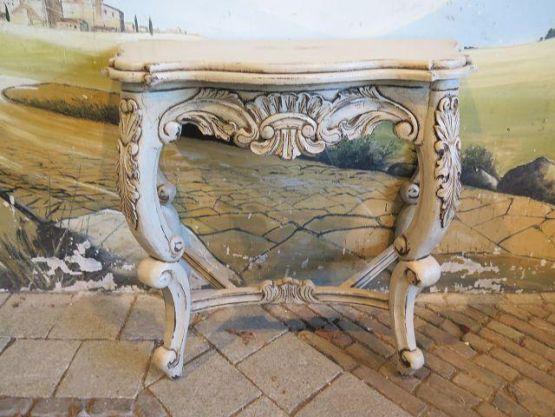 Консольный столик из тика, в стиле Шебби Шик