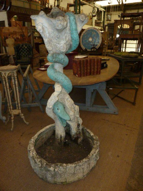 Садовый вазон в виде змеи, 168 см
