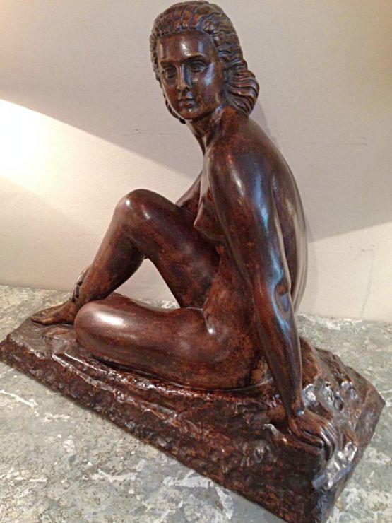 Терракотовая статуэтка.  D. Chiparus, ХХ в.