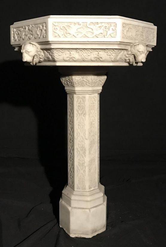 Фонтан из белого мрамора, начало XIX в.