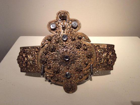 Пряжка для ремня из позолоченной бронзы, XIX в.