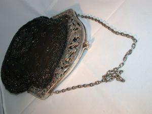 Антикварный серебряный кошелек