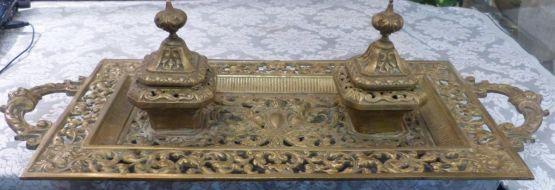 Бронзовая чернильница в стиле Наполеона III