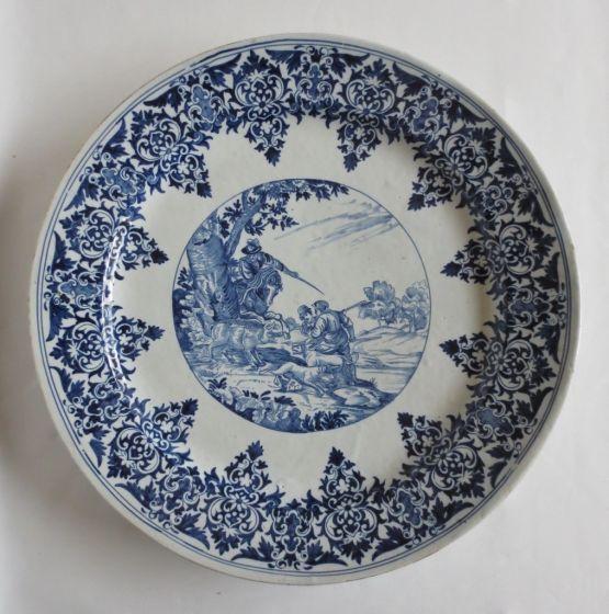 Керамическая тарелка в стиле Антонио Темпеста, XIX