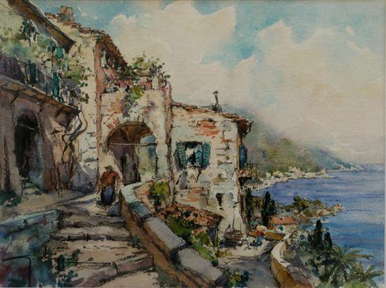 'Средиземноморская деревушка'. G. Chappuis, ХХ в.
