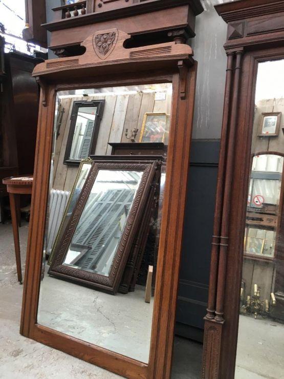 Большое старинное зеркало