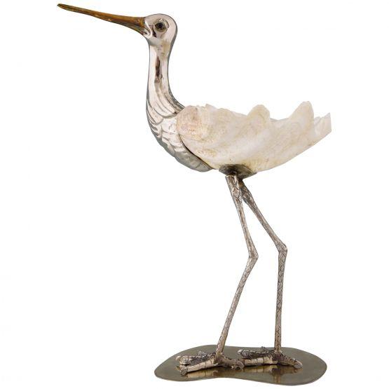 Современная скульптура птицы