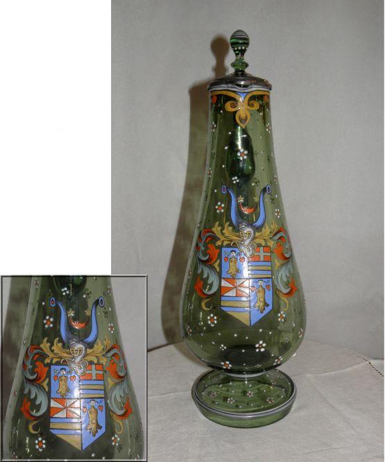 Кувшин из богемского стекла, ок. 1900 г.