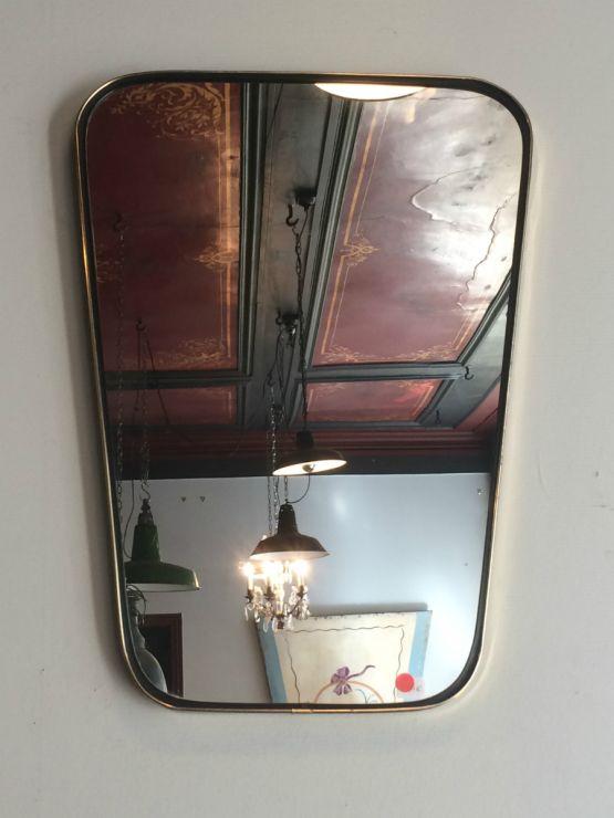 Старинное латунное зеркало