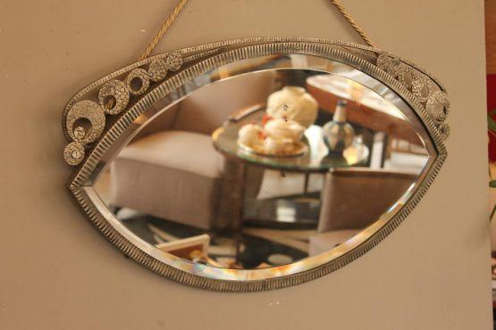 Миндалевидной формы зеркало в стиле Ар-Деко, ХХ в.