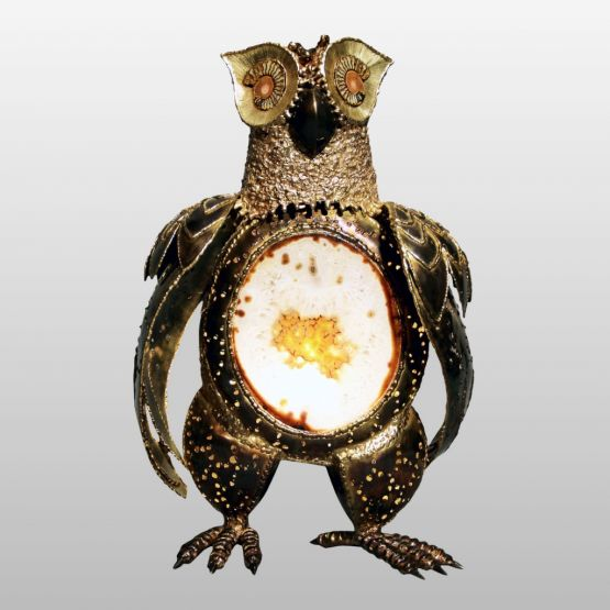 Скульптура-лампа 'Сова', XX в.