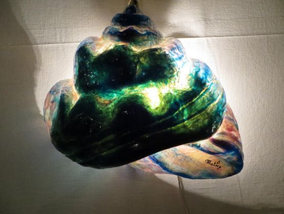 Лампа 'Фрактальная раковина' из резины, ХХ в.