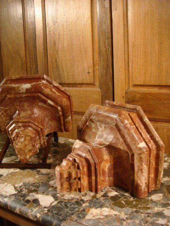 Две мраморные консоли, XVIII в.