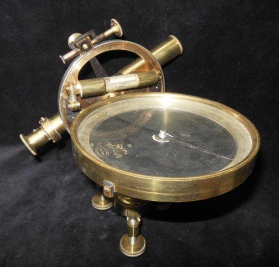 Латунный компас с подзорной трубой, XIX в.