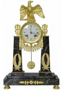 Часы-портик с орлом в стиле ампир, XIX в.