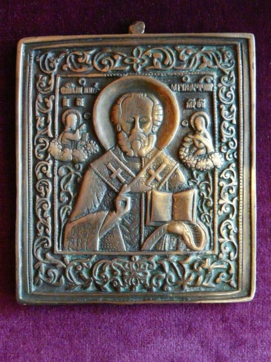 Иконка Николая Угодника, начало XIX в.