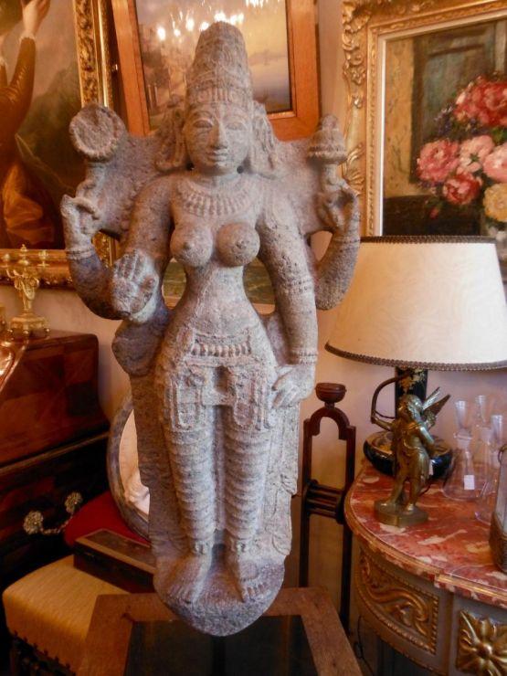 Скульптура индийской богини, XIX в.