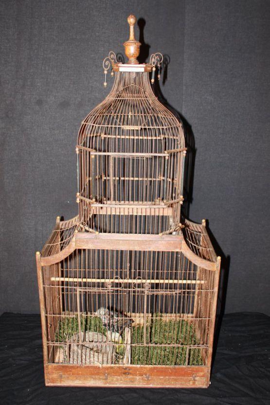 Деревянная клетка для птиц, XIX в.