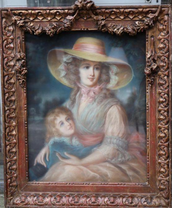 Картина матери с ребенком, XIX в.