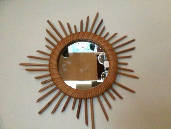 Зеркало в раме из ротанга